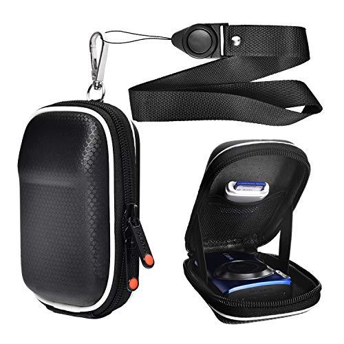 Black Compact Digital Camera Case Bag Compatible for Canon PowerShot SX740 SX730 SX720 SX620 HS G9 X,Panasonic Lumix DMC ZS60 ZS50 ZS40 TZ70 TZ60,Sony DSC-W830 W810 WX350,by FOSOTO