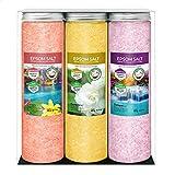 Nortembio Sales de Epsom Pack 3 x 430 g. Fragancias de Canela, Jazmín, Rosas....