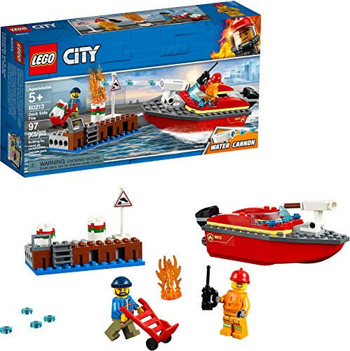 LEGO City Dock Side Fire 60213 Building Kit (97 Pieces) Montana