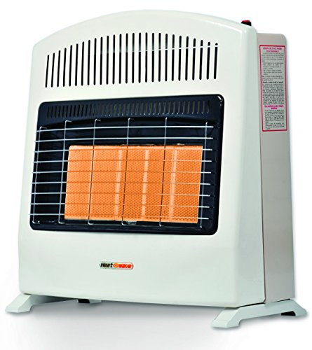 Calefactor de Ambiente de Pared Heat Wave HG5W de gas LP con Cinco Radiantes.