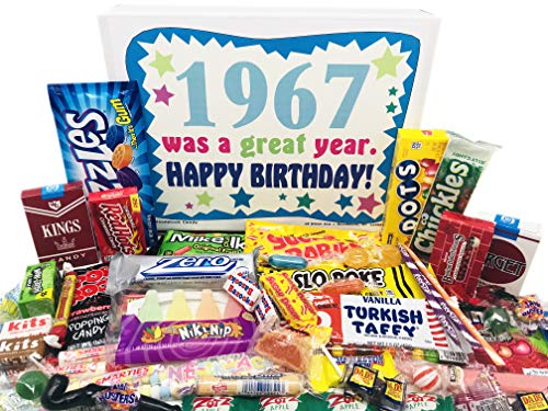 Woodstock Candy ~ 1967 Gifts- 53rd Birthday Gift Box Assortment of Nostalgic Retro Candy from Childhood for 53 Year Old Man or Woman Born 1967