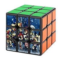 スピードキューブ 3x3 キューブ 魔方 立体パズル キングダムハーツ キューブパズル マジックキューブ 室内遊び 室内ゲーム 回転スムーズ トレ ストレス解消 知育玩具 入門 プレゼント プリント 脳トレ ポンプ防止