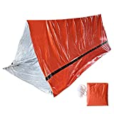 Survial Tent for 2 Person, Portable Emergency – Waterproof Shelter Survival Emergency Tent – Made of Functional PE Material, Lightweight Tube Tent, Sleeping Bag for Outdoors Camping, Hiking (Orange)