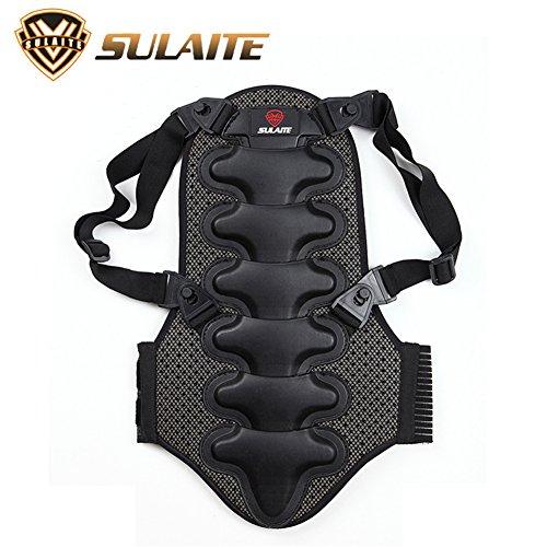 Protector de espalda para motocicleta, protector de espalda para esquí, protector de espalda para columna con seguridad anticaída, protector de espalda para columna para motos de snowboard (XL)