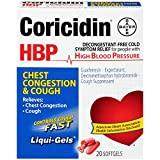 Coricidin HBP Chest Congestion & Cough Liqui-Gels 20 ea (Pack of 4)