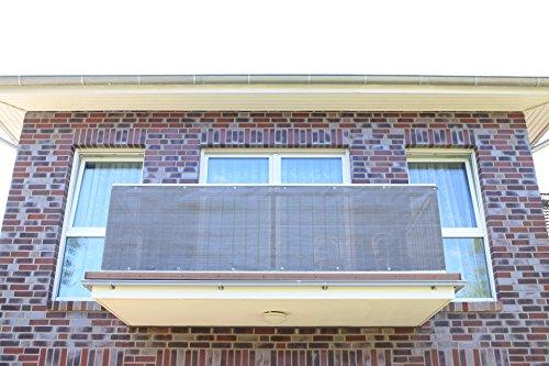 Smart Deko Anthrazit 78986 300x90cm Balkonsichtschutz, Balkonverkleidung, Windschutz, Sichtschutz und UV-Schutz für Balkon, Gartenanlagen, Camping und Freizeit (300x90cm)