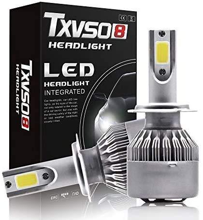WanZhuanK 2X (H7) 12V 36W Vision Xenon Look Effekt Halogen Lampen Birnen Licht Optik Super White 6500k Abblendlicht Fernlicht Kaltweiß White Vision Weißes Licht Hammer Motorrad