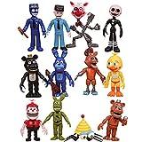 LLMZ 12pcs Five Nights at Freddy'S, Five Nights At Freddy Modelo de decoración Modelo de Personaje Animado Regalo (3 Pulgadas)