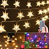 Color Changing Star String Lights Plug in - 33 Feet 100 Led Star Fairy...