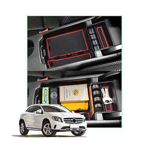 YEE PIN Mittelkonsole CLA Clase C117 2014-2019 Handschuhfach für Armlehne Organizer Aufbewahrungsbox Mit Rutschfestermatte Autozubehör