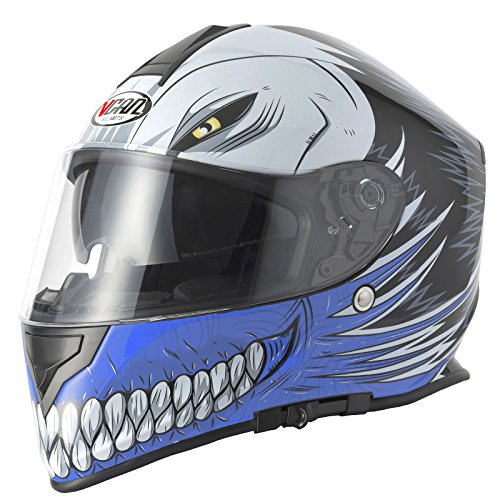 V-CAN Vcan V127 Hueca Full Face Casco de Moto