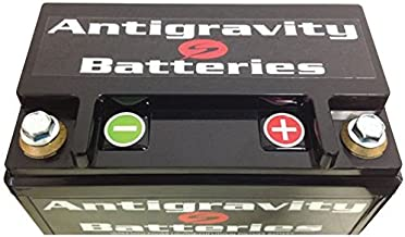 Antigravity Batteries - Lightweight Motorcycle Lithium Ion Battery - OEM 24 Cell YTX12-24 ATX12-24 LEFT POSITIVE TERMINAL - 5 Pounds - 720 CCA - Chopper Bobber Harley