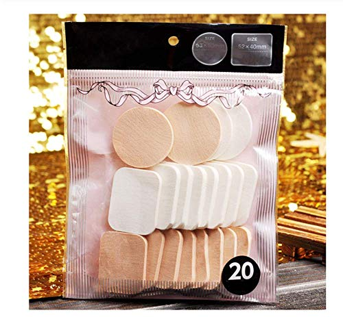 KUSAWE Éponge de maquillage 20pcs / Sac Mix Couleur Rond Carré Maquillage Éponge Puff Dry Wet Double Usage Fondation Poudre Lisse sans Faille Pro Cosmetic Puff Kit A