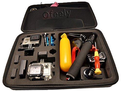 Ofeely Shockproof Waterproof Hard Case Box Bag For GoPro HD Hero4/3+/3/2 (Black-large)