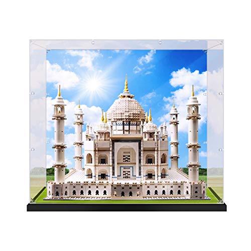 Vitrina de Acrílico para Lego Taj Mahal 10256, Display Case Vitrinas para Colecciones Modelismo (Solo Vitrina) (con Chorro de Tinta)
