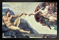 ProFrames アダムの創造 ミケランジェロ アートプリント 額入りポスター 12x18 18x12 inches