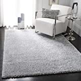 Safavieh August Shag AUG900G Modern Contemporary Plush Area Rug, 8' x 10', Silver