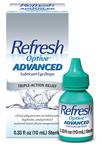 Refresh Optive Advanced Lubricant Eye Drops For Dry Eyes, 0.33 Fl Oz Sterile