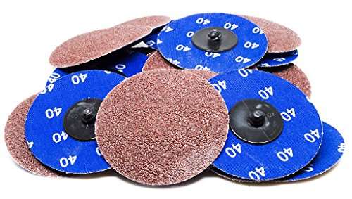 "3"" Roloc A/O Quick Change Sanding Disc 24 Grit - 25 Pack"