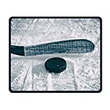 Portable Gaming Mouse Pad Ice Hockey Comfortable Non-Slip Base Durable Stitched Edges For Laptop Computer & PC 7.08 X 8.66 Inch, 3mm Thick