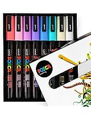 Uni PC-3M artystyczne markery do malowania - zestaw 8 sztuk - w pudełku upominkowym - tony zmierzchu