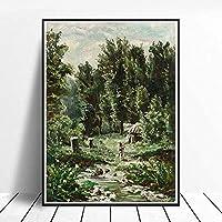 IvanShishkin自然の風景画アートポスタープリント家の壁の装飾リビングルームの廊下の写真の装飾リアリズムアートワークキャンバス40x60cmフレームなし