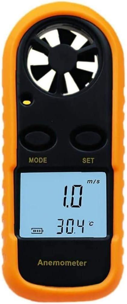 NEW before selling ☆ WSH Anemometer LCD Mini Wind Speed Orange lowest price Gauge Meter 0-30m s Ai