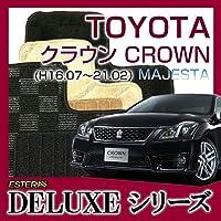 【DELUXEシリーズ】トヨタ クラウンマジェスタCROWN MAJESTA フロアマット カーマット 自動車マット カーペット 車マット(H16.07~21.02,UZS187) 2WD サクセスシリウス(無地) ab-to-crma-16u1874wd-delss