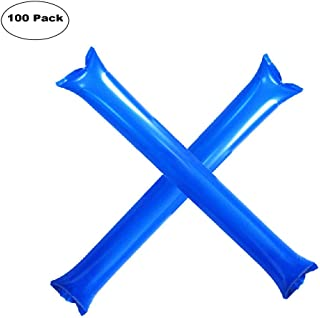 Furry Sunny Bam BamThunder Sticks Inflatable Stadium Noisemakers Cheer Sticks Blow Bar Inflatable Boom Sticks Noisemakers Stick Basketball Football Noisemakers Party Favors 100 Pack