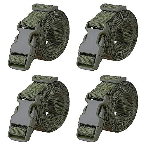 MAGARROW 78' x 1' Strap Buckle Packing Straps Adjustable 1-Inch Belt (Green (4-PCS))