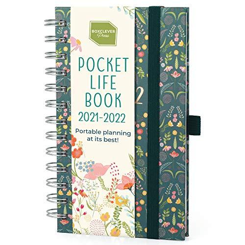 (en inglés) 'Pocket Life Book' de Boxclever Press. Agenda 2021 2022 Delgada. Agenda Escolar 2021 2022 Mediados Agosto'21-Dic'22. Planificador Semanal con Listas de la Compra y más. 17,5 x 10 cm