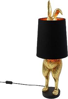 Lampe de table 1 l Hiding Bunny H 74 cm en polyrésine