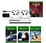 Xbox One S 1TB Console - Halo Wars 2 Bundle + Play & Charge Kit + Xbox White Wireless Controlle…