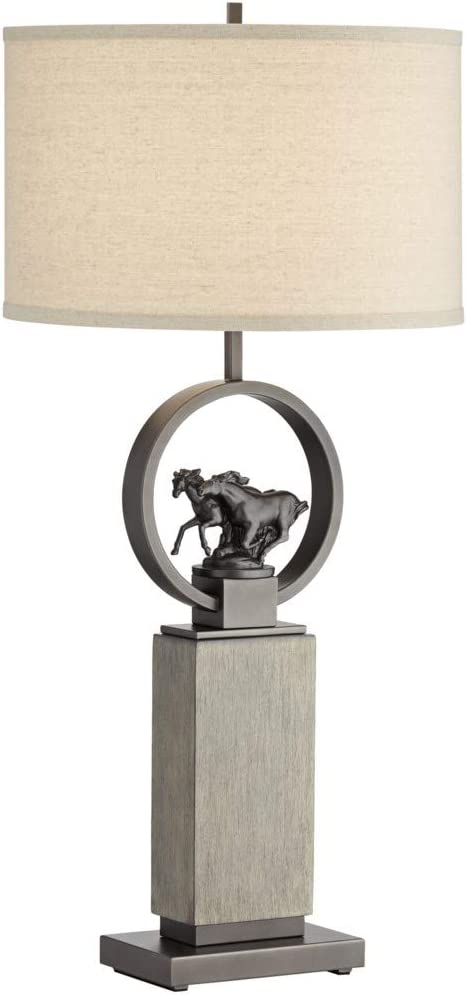 Pacific Coast Lighting Wild Horses Max 72% OFF Table Rustic Popular brand Lamp and Lodge