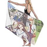 Fruits Basket Toalla de baño grande de viaje, ligera 130 cm x 80 cm, toalla de playa de microfibra para gimnasio, toalla de viaje de natación grande absorbente de secado rápido