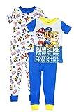 Paw Patrol Boys' Nickelodeon Four-Piece Pajama Pant Set, Multi S/S, 4T