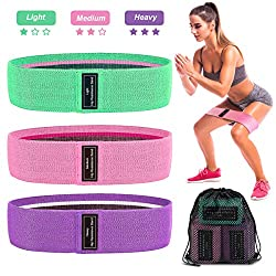 AODOOR Resistance Hip Bands, Fitness Bands Resistance Bands Training Bands Set with 3 different tensile strengths Yoga belt for muscle building Pilates Yoga squats deadlifts