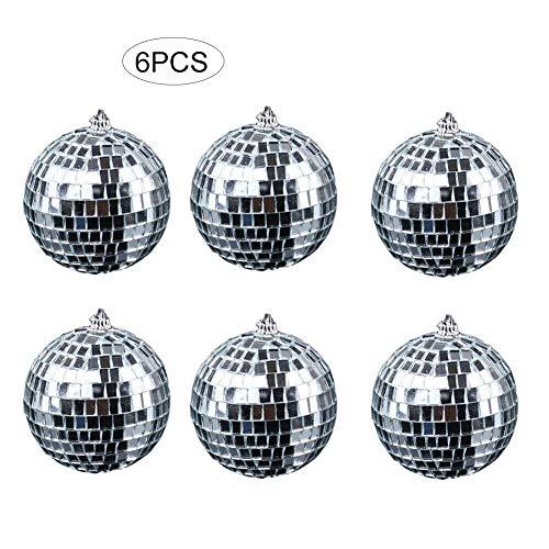 Kathariiy Spiegelkugel, Silberne hängende Disco-Beleuchtungskugel, DJ Dance dekorative Bühnenbeleuchtung für Hochzeitsfeiertag