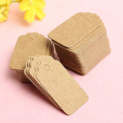 Bazaar 100pcs sable pétoncles nom de cadeau de mariage étiquette en papier kraft du parti cartes main dessiner une carte de visite