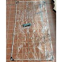 YJFENG 透明性ターポリン、 テント フェンスクロス、 テーブルクロス アイレット付き、 0.3mm PVC プラスチックシート、 防塵 防風 防雨、 庭用 家具 (Color : 明確な, Size : 1.2X3M)