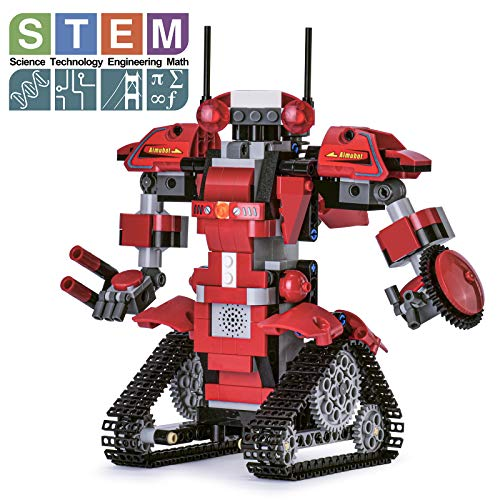 Ganowo Robot Building Kits for Kids, STEM Remote Controlled Robot kit Toys Building Robot for Kids,Teens, Educational Learning Science Projects Ages 8-12 Boys and Girls (RED)