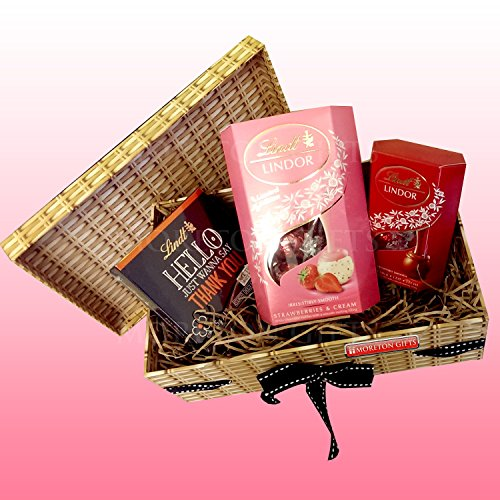 Lindt Ladies Thank you Hamper Box – Lindt Lindor Chocolates - Thank you Teacher – Strawberries & Cream - By Moreton Gifts