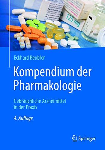 513Erd3tctL - Kompendium der Pharmakologie: Gebräuchliche Arzneimittel in der Praxis (German Edition)