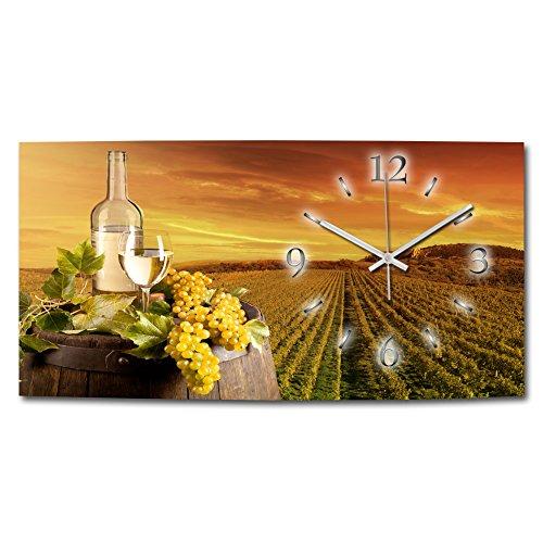 Kreative Feder Wein Genuss XXL Designer Funk Wanduhr Funkuhr modernes Design * Made in Germany* WAG009FL-X