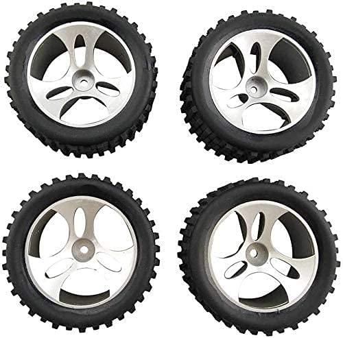 ZYGY 4pcs Reifen für Wltoys A959 RC Geländewagen 4WD Radzubehör A959-01 schwarz