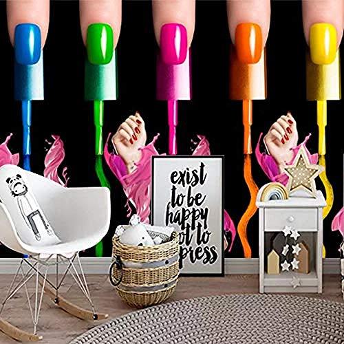 Bekleidungsgeschäft Hintergrund Wallpaper Nagellack Persönlichkeit Wandbild Friseur Bekleidungsgeschäft Hintergrund wandpapier fototapete 3d effekt tapete tapeten Wohnzimmer Schlafzimmer-400cm×280cm