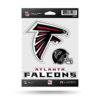 NFL Atlanta Falcons Die Cut 3-Piece Triple Spirit Sticker Sheet