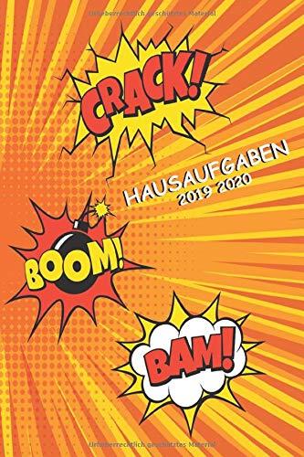 Hausaufgaben 2019 2020: Schülerkalender Mit Datum, Platz Für Aufgaben, Stundenplan, Notizen,Schulnoten Schülerplaner , Hausaufgabenheft Comic Cover