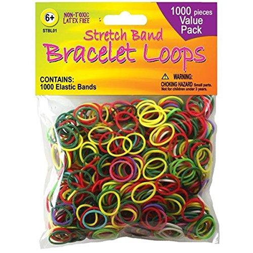 Pepperell (Stretch élastique Bracelet Boucles 1,000-assorted Couleurs