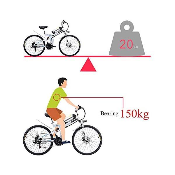 513EvLlIX6L. SS600  - 26 Zoll Rad 21 Gang E-Bike,Tragbares Lithium-Batterie Mountainbike,Klappbare Elektrofahrrad Mit 350w Bürstenloser Motor
